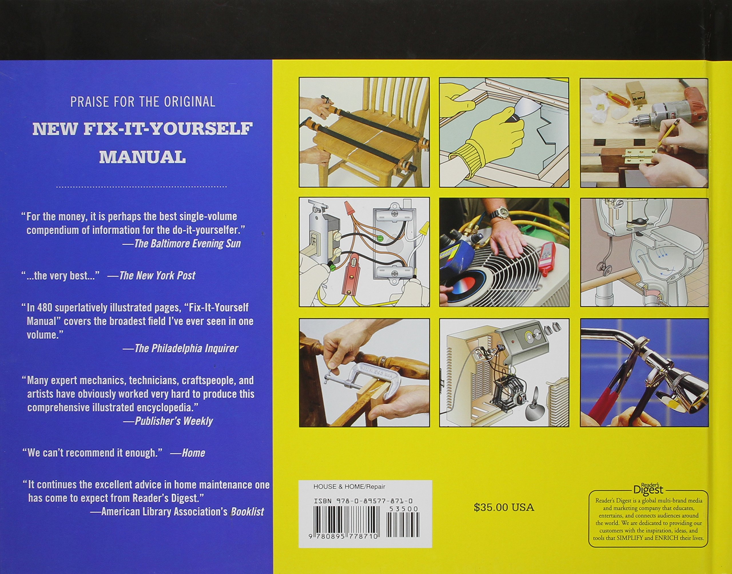 New Fix-It-Yourself Manual: How to Repair, Clean, and Maintain Anything and  Everything In and Around - jmtall